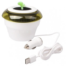 USB Powered Peace Grass Car Air Purifier - HHZ-0116 - White - 4