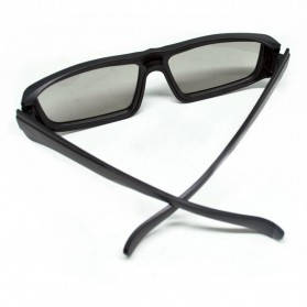 LCD Plastic Circular Polarized 3D glasses for LG TV or Real 3D Cinema - Black