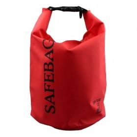 Safebag Outdoor Drifting Waterproof Bucket Dry Bag 15 Liter - Red - 2