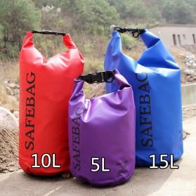 Safebag Outdoor Drifting Waterproof Bucket Dry Bag 15 Liter - Blue - 3