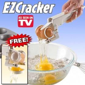 EZCracker Handheld Egg Cracker Separator Pemecah Telur - White