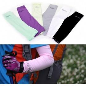 Hi Cool Arm UV Protection Cover / Sarung Pelindung Lengan - White