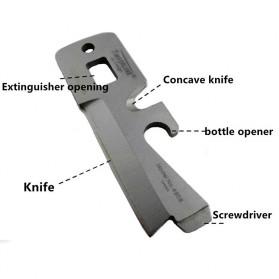 Timberline Pisau Lipat Multifungsi Hidden Portable Knife Survival Tool EDC - A4905 - Black - 2