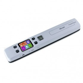 Jual Scanner Portable Komputer  - Portable Full Color Scanner 1050DPI with LCD Screen - iScan02 - White
