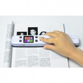 Portable Full Color Scanner 1050DPI with LCD Screen - iScan02 - White - 11