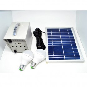 Solar Panel Monocrystalline 5W / 18V with DC Connector - White