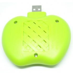 Lampu Tidur Anti Nyamuk LED bentuk Apel - Green - 2