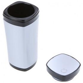 Luxury USB Auto Stirring and Warming Coffee Cup 130ml / Teko Elektrik - U805 - Silver - 2