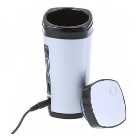 Luxury USB Auto Stirring and Warming Coffee Cup 130ml / Teko Elektrik - U805 - Silver - 6