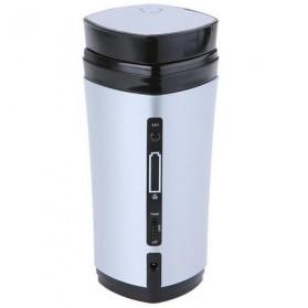 Luxury USB Auto Stirring and Warming Coffee Cup 130ml / Teko Elektrik - U805 - Silver - 7