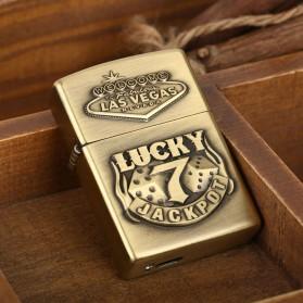Korek Elektrik Besi Motif Lucky 7 - Golden - 7