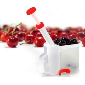 Pembuang Biji Cherry dan Anggur bahan Plastik - White