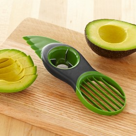 Easy 3 in 1 Avocado Slicer / Pemotong Alpukat - Green