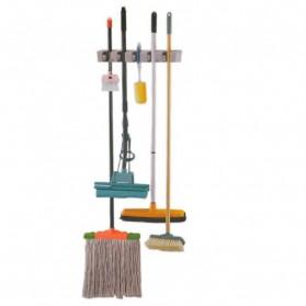 Magic Broom and Mop Holder / Gantungan Sapu dan Kain Pel - Gray - 5