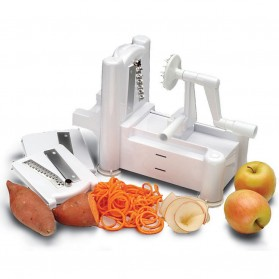 Spiral Vegetable Slicer Machine / Mesin Pengupas Spiral Sayuran - White - 1