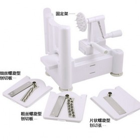 Spiral Vegetable Slicer Machine / Mesin Pengupas Spiral Sayuran - White - 6