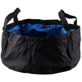 Tuban Portable Outdoor Drifting Waterproof Bucket Dry Bag 8.5 Liter - Black Blue