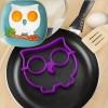 Egg & Pancake Rings Owl Shape / Pencetak Telur - Purple