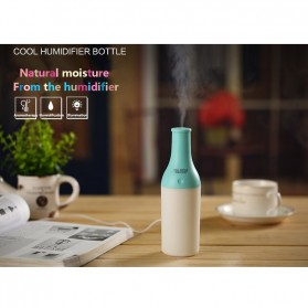 Magic Bottle USB Aromatherapy Humidifier with Night Light - White/Green - 5
