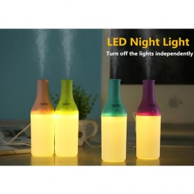 Magic Bottle USB Aromatherapy Humidifier with Night Light - White/Green - 6