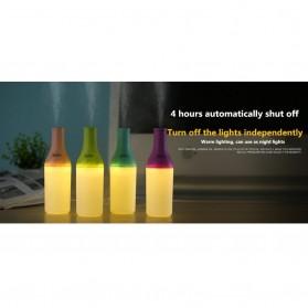 Magic Bottle USB Aromatherapy Humidifier with Night Light - White/Pink - 4