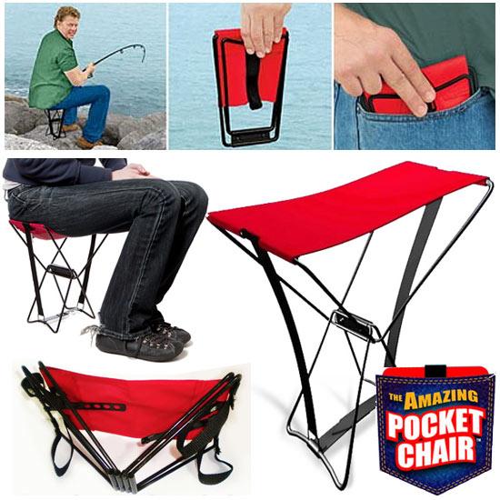 Portable Pocket Chair Kursi Lipat