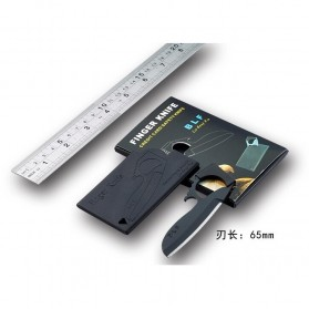 BLF Elocranon Pisau Lipat Kartu Multifungsi Hidden Portable Knife Credit Card Survival Tool EDC - BLF188 - Black - 6