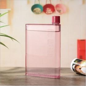 MemoBottle A5 Letter Reusable Water Bottles 420ml / Botol Minum - Pink