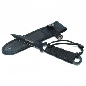 KNIFEZER Haller Pisau Legging Diving Knife Survival Tool - HL002 - Black - 2