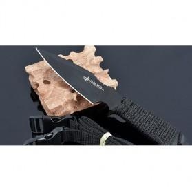 KNIFEZER Haller Pisau Legging Diving Knife Survival Tool - HL002 - Black - 3