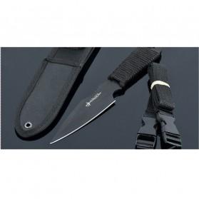 KNIFEZER Haller Pisau Legging Diving Knife Survival Tool - HL002 - Black - 5