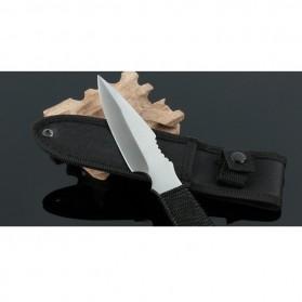 KNIFEZER Haller Pisau Legging Diving Knife Survival Tool - HL002 - Black - 7