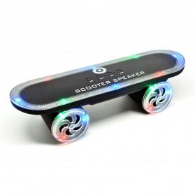 Skateboard LED Light Bluetooth Speaker - Black