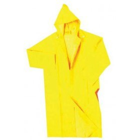 Plastic PVC Motorcycle Waterproof Rain Coat / Jas Hujan - Size XL - Yellow - 2