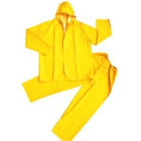 Plastic PVC Motorcycle Waterproof Rain Coat / Jas Hujan - Size XL - Yellow - 3