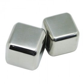 Reusable Stainless Steel Ice Cube 4 PCS / Es Batu Stainless - W00043 - 4