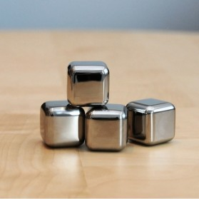 Reusable Stainless Steel Ice Cube 4 PCS / Es Batu Stainless - W00043 - 5