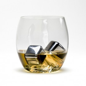 Reusable Stainless Steel Ice Cube 4 PCS / Es Batu Stainless - W00043 - 7