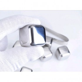 Reusable Stainless Steel Ice Cube 4 PCS / Es Batu Stainless - W00043 - 10