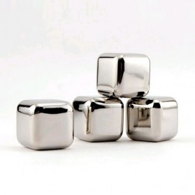 Leeseph Reusable Stainless Steel Ice Cube 6 PCS / Es Batu Stainless - W00043 - 2