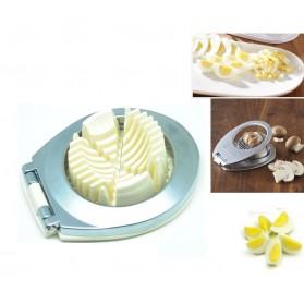 3 in 1 Stainless Steel Egg Cutter / Pengiris dan Pemotong Telur - Silver