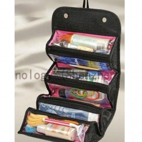 Klsyanyo Universal Multifunction Cosmetic Bag Roll n Go - BG-WABB504 - Black - 3