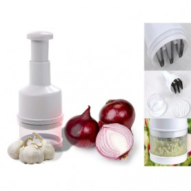 Kitchen Onion Chopper Hand Pressure / Penumbuk Bawang - White