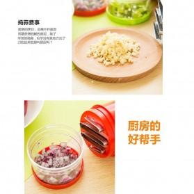 MYVIT Penumbuk Pemotong Bawang Kitchen Onion Chopper Hand Pressure - OA0090 - White - 4