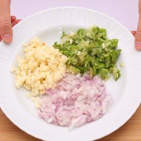 MYVIT Penumbuk Pemotong Bawang Kitchen Onion Chopper Hand Pressure - OA0090 - White - 5