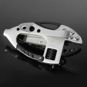 Flounder Multifunctional Tool dengan Mini LED - Black/Silver - 2