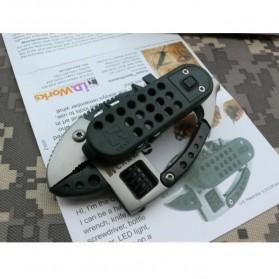 Flounder Multifunctional Tool dengan Mini LED - Black/Silver - 7
