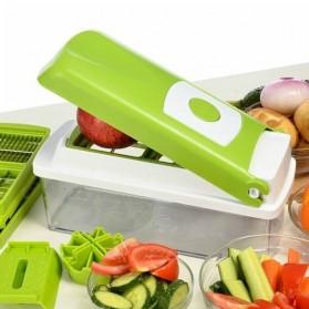 Qiecai Kitchen 12 Sets Shredded Sliced / Set Pemotong Sayur - Green