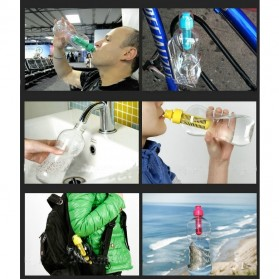 KMYC Portable Outdoor Activated Carbon Filter Sport Water Bottle 550ml - SWB023 - Black - 3