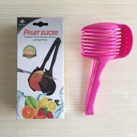 Kitchen Fruit Slice Helper / Alat Bantu Pemotong Buah - Black - 2